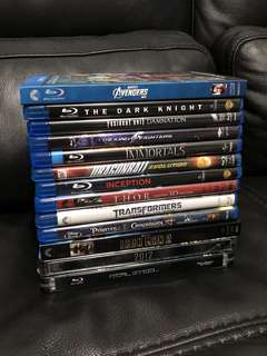 Popular Assorted Blu-Ray Movies