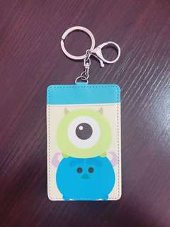 Student Bus MRT Card Holder Keychain Mike & Sulley