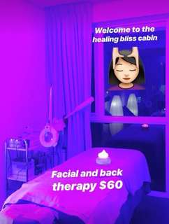 Soothing,hydrating Facial and relaxing back therapy 1hr 30mins 💆🏻♀️💆🏻♀️