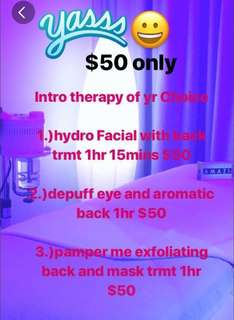 Aromatic therapy 60mins for first trial for female only