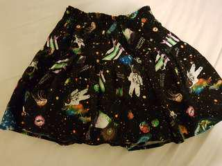 Galaxy space style skirt