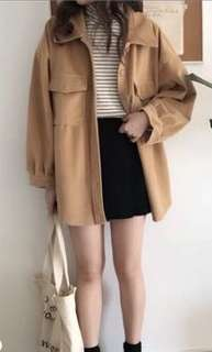 🚚 保暖中長版襯衫外套