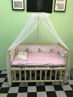 Baby Cot Baby Crib Cradle 2 in 1