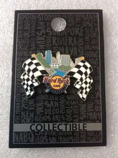 Hard Rock Cafe Pins - INDIANAPOLIS HOT 2017 CORE CHECKERED RACE FLAGS PIN!
