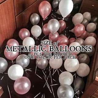 METALLIC BALLOONS (25pcs)