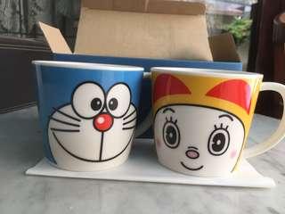 *NEW* DORAEMON Mug (1 set, doraemon & dorami)