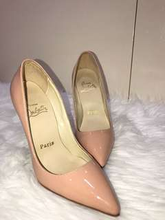 AUTHENTIC Christian Louboutin 'So Kate' Nude Heels