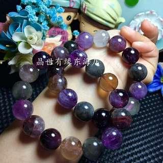 紫鈦晶手串 15mm