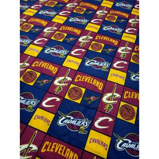 Bedsheet Cotton NBA Cleveland Cavaliers Cavs Double Beddings