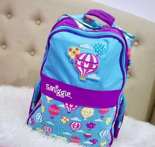 Preloved Smiggle Scholl Bag Model Trolly utk Anak SD
