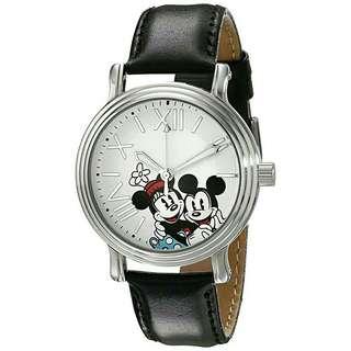 Women's Watch Disney Mickey Mouse Leather Black W001861