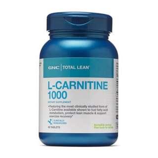 [全場最平旺角門市現貨] 美國 GNC 塑身 L carnitine 1000 (左旋肉鹼) 60粒 減肥配方 Total Lean™ Burn 60™ CLA Q10
