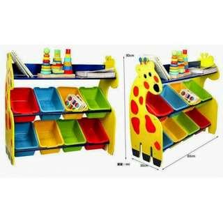 *Ready Stock* Looong Combo Giraffe Meal Set + Toys Organizer Rack