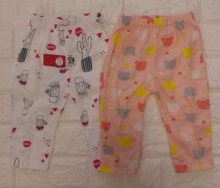 🚚 (3-6) 2pieces Premium baby Long Pants