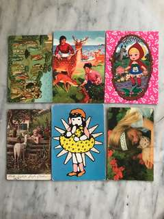 Set of Vintage Postcards