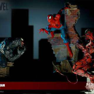Sideshow Ultimate Spider-Man Spiderman Comiquette Set w Venom and Carnage