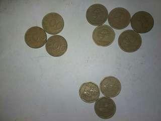 Uang logam kuningan jadul.. barang sesuai foto.
