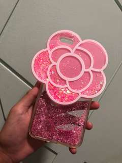 Cute preloved glitter flower phone case for iphone 6/6s Plus