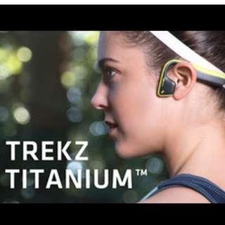 Aftershokz  Trekz Titanium Open Ear Wireless Bone Conduction Headphones