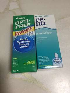 2 Bottle of Contact Lenses Solution