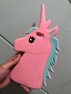 Preloved rubber unicorn case for iphone 6/6s plus