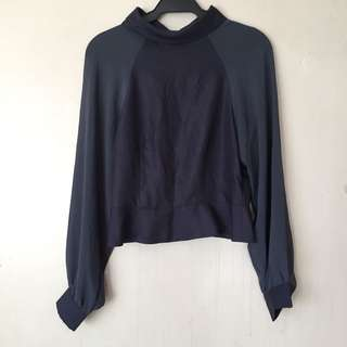 H&M Gray Long Sleeved Blouse