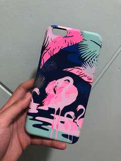 Preloved rubber flamingo case for iphone 6/6s plus