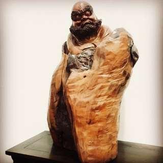 達摩 木雕 藝品 國際 普願