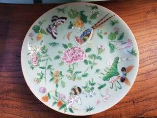 Antique Celadon plate