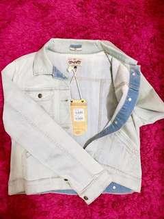 WRANGLER leather jeans jacket | WRANGLER jaket jeans