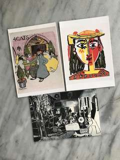 3 pcs of Piscasso Postcards