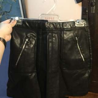 Faux leather skirt size 4