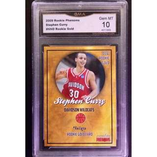 Stephen Curry Rookie Card 2009 Phenoms Gold Original Card