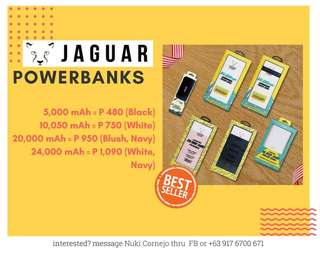 Original Jaguar Powerbanks and Wireless Charging Pads