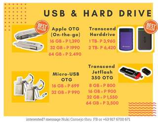 Transcend Flashdrives and Hard Drives