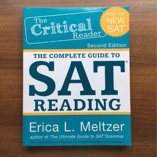 Erica L Meltzer SAT Reading Textbook (New)