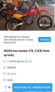 XR250 nice number 378 上去发 climb up lucky
