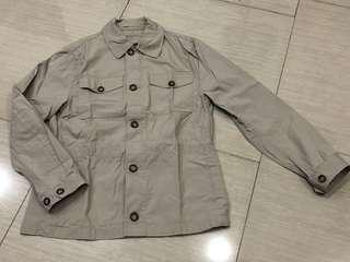 Jaket Banana Republic Khaki Zip Buttons size M