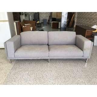香榭二手家具*IKEA 灰色麻布 四人座沙發-二手沙發-客廳沙發-辦公沙發-中古沙發-套房沙發-沙發床-房間椅-回收家具