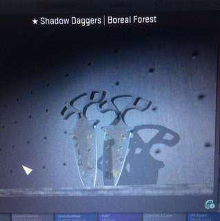 CSGO Shadow Daggers - Boreal Forest
