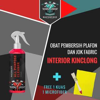 All Purpose Cleaner for Fabric and Leather (250 ml) +1 pc Kuas + 1 pc Microfiber.
