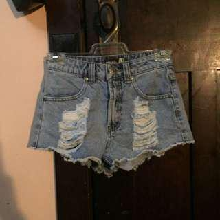 Ripped denim shorts size 6