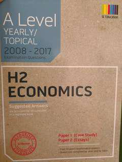 A Level H2 Economics 2008-2017 Questions