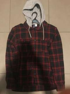 H&M HOODED FLANNEL
