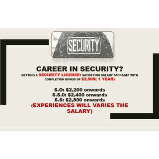 SECURITY IN DEMAND (UNTRAINED AND TRAINED OFFICERS)