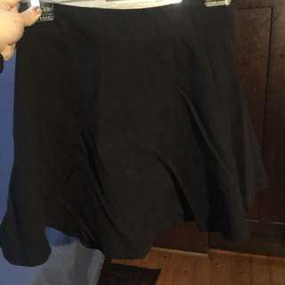 Faux suede skirt size 6