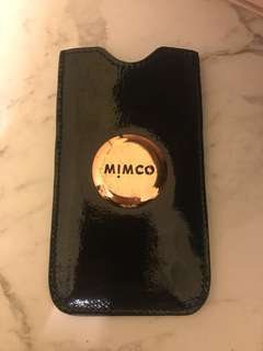 Mimco black rose gold phone/wallet case