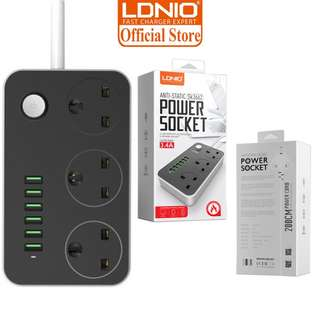 👍14.90 Promo📲Ldnio 6 USB Power Strip+6 AC Outlets Power Socket Surge Protected USB Socket