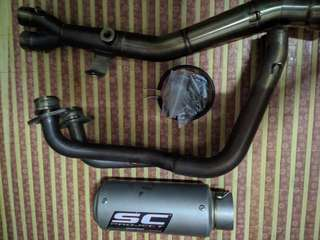 R25 SC Project Full System Exhaust