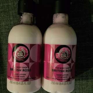 🚚 The Body Shop British Rose Hand Lotion